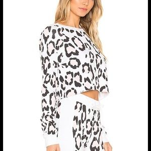 Wildfox Couture Beach House Leopard Top Sweater